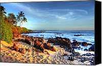 Beach Photograph Photo Canvas Prints - Secret Cove  Canvas Print by Kelly Wade