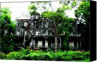 Haunted House Photo Canvas Prints - Secret House Canvas Print by Emily Stauring