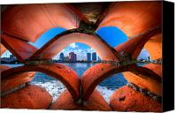 Florida Bridge Canvas Prints - Secret Keyhole Canvas Print by Debra and Dave Vanderlaan