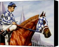 Horses Framed Prints Canvas Prints - Secretariat at Churchill Canvas Print by Thomas Allen Pauly