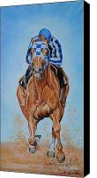 Track Racing Canvas Prints - Secretariat Canvas Print by Jana Goode