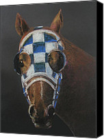 Preakness Canvas Prints - Secretariat - Jewel of the 1973 Triple Crown Canvas Print by Arline Wagner