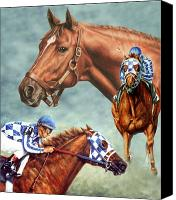Race Horse Prints Canvas Prints - Secretariat the Legend Canvas Print by Thomas Allen Pauly