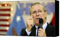 Talking Canvas Prints - Secretary Of Defense Donald H. Rumsfeld Canvas Print by Stocktrek Images
