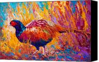 Pheasant Painting Canvas Prints - Secrets In The Grass - Pheasant Canvas Print by Marion Rose