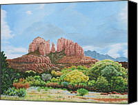 Photorealism Canvas Prints - Sedona AZ Canvas Print by Mike Ivey