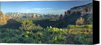 Dan Turner Canvas Prints - Sedona From Brins Mesa Canvas Print by Dan Turner