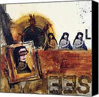 Raw Mixed Media Canvas Prints - See No Evil Canvas Print by Michel  Keck