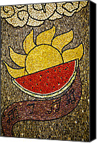 Fruit Markets Canvas Prints - Seed art Canvas Print by John  Bartosik