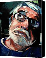 Contrasts Posters Canvas Prints - Seeing Self-portrait Canvas Print by Charlie Spear