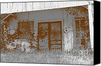 Screen Doors Photo Canvas Prints - Seen Better Days Canvas Print by Connie Fox
