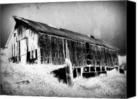 Barn Digital Art Canvas Prints - Seen Better Days Canvas Print by Julie Hamilton