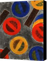 Abstract Canvas Prints - Segments 4 Canvas Print by David Townsend