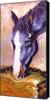 Large Format Horse Print Canvas Prints - Seize the Hay Canvas Print by Susan A Becker