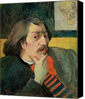 Sat Canvas Prints - Self portrait Canvas Print by Paul Gauguin