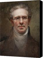Portraits Canvas Prints - Self Portrait Canvas Print by Rembrandt Peale