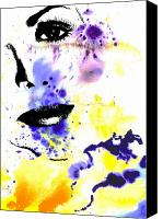 Graphic Canvas Prints - Self Canvas Print by Ramneek Narang
