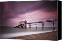 Long Canvas Prints - Selsey Lifeboat Station Canvas Print by Nina Papiorek
