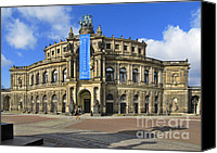 Concert Canvas Prints - Semper Opera House - Semperoper Dresden Canvas Print by Christine Till