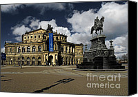 Concert Canvas Prints - Semper Opera house Dresden - A beautiful sight Canvas Print by Christine Till