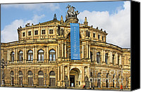 Theater Canvas Prints - Semper Opera House Dresden Canvas Print by Christine Till