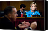 First Lady Canvas Prints - Senator Hillary Clinton A Member Canvas Print by Everett