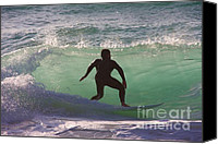 Sennen Cove Canvas Prints - Sennen cove surf Canvas Print by Ed Lukas