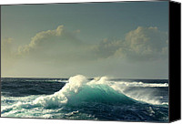 Sennen Cove Canvas Prints - Sennen surf Canvas Print by Linsey Williams