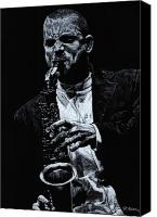 Player Canvas Prints - Sensational Sax Canvas Print by Richard Young