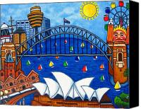 Luna Canvas Prints - Sensational Sydney Canvas Print by Lisa  Lorenz