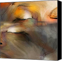 Heads Digital Art Canvas Prints - Senses Canvas Print by Bob Salo