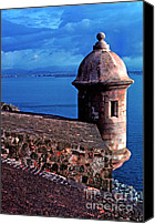 Old San Juan Canvas Prints - Sentry Box El Morro Fortress Canvas Print by Thomas R Fletcher