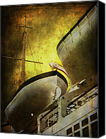 Cruise Ships Canvas Prints - Sentry Canvas Print by Leah Moore