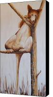 Kangaroo Painting Canvas Prints - Sentry Canvas Print by Replicant Zero