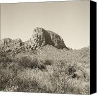Big Bend Canvas Prints - Sepia Color Big Bend National Park Canvas Print by M K  Miller