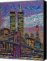 Manhattan Pastels Canvas Prints - September 10th  Canvas Print by Robert  SORENSEN