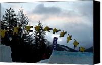Snowboarder Canvas Prints - Sequence  of a snowboarder at the Telus snowboard festival Whistler 2010 Canvas Print by Pierre Leclerc
