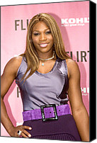 At The Press Conference Canvas Prints - Serena Williams At The Press Conference Canvas Print by Everett