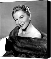 1956 Movies Canvas Prints - Serenade, Joan Fontaine, 1956 Canvas Print by Everett