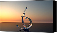 Sunset Glass Art Canvas Prints - Serenade Canvas Print by Raffi Zaroukian