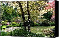 Gardens Canvas Prints - Serene Garden Retreat Canvas Print by Carol Groenen