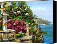 Balconies Canvas Prints - Serene Sorrento Canvas Print by Trevor Neal 