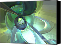 Cgi Canvas Prints - Serenity Achieved Abstract Canvas Print by Alexander Butler