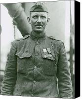 Moh Digital Art Canvas Prints - Sergeant Alvin York Canvas Print by War Is Hell Store
