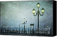 San Marco Canvas Prints - Servizio Gondole Canvas Print by Marion Galt