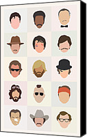 Featured Canvas Prints - Seventies Movie Dudes Canvas Print by Mitch Frey