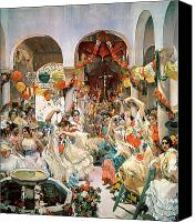 1923 (oil On Canvas) Canvas Prints - Seville Canvas Print by Joaquin Sorolla y Bastida