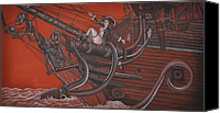 Joe Dragt Canvas Prints - Sexy Pirate Canvas Print by Joe Dragt