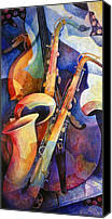 Featured Painting Canvas Prints - Sexy Sax Canvas Print by Susanne Clark