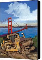 Artists Canvas Prints - SF and D9 Canvas Print by Brad Burns